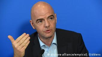 Gianni Infantino FIFA Präsident (picture-alliance/empics/J. Giddens)