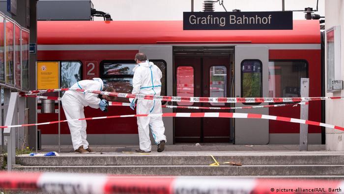 Deutschland Messerattacke am Grafinger Bahnhof