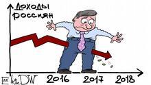 Karikatur Russland Einkommen von Sergey Elkin