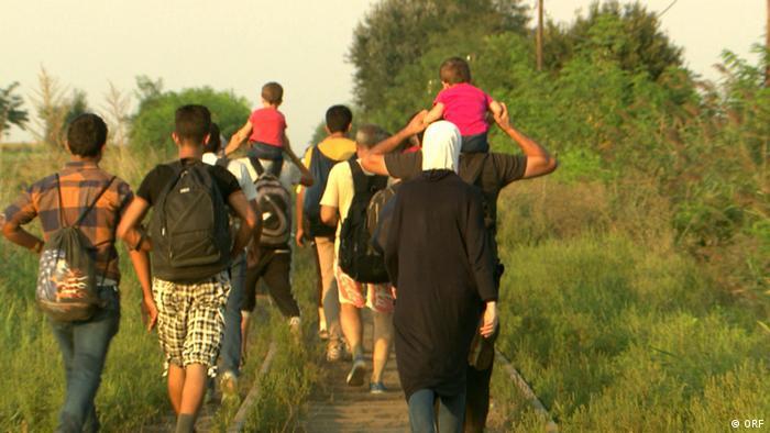 Filmstill Die Balkanroute – Auf der Flucht , (ORF)