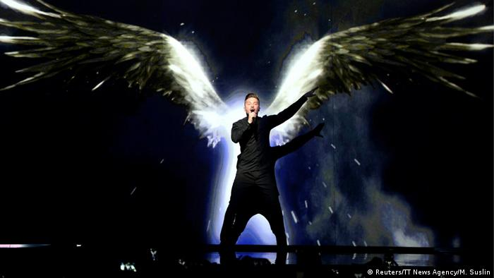 "Schweden Stockholm ESC 2016 Russia's Sergey Lazarev rehearses the song ""You Are The Only One"""
