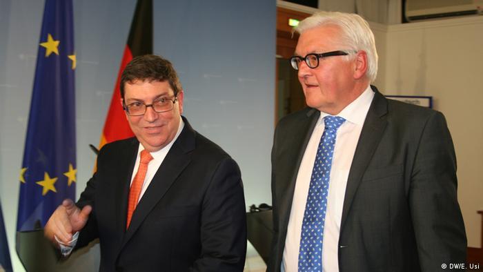 Deutschland Berlin Steinmeier und Bruno Rodríguez Parilla