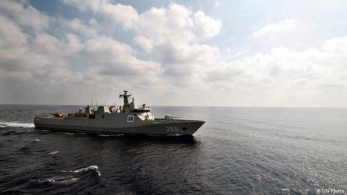 UN Friedenstruppen Schiff vor der libanesischen Küste