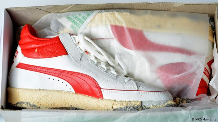 Boris Becker's Puma shoes worn at Wimbledon (Copyright: MKG Hamburg)