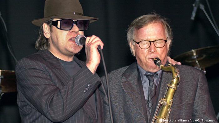 Udo Lindenberg and Klaus Doldinger performing
