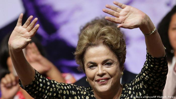 President Dilma Rousseff at the National Conference of Women, in BrasiliaBrazilian President Dilma Rousseff