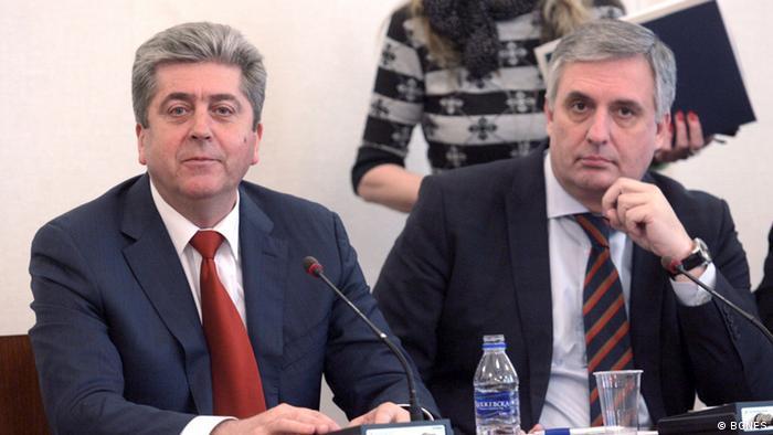 Bulgarien Georgi Parvanov und Ivailo Kalfin (BGNES)
