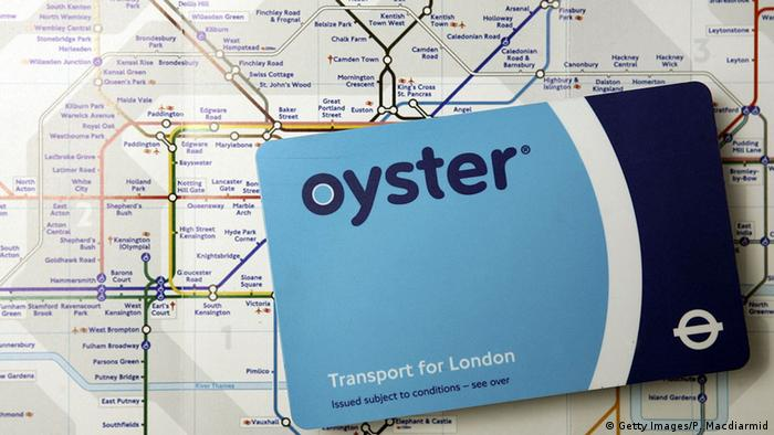 The 'Oyster travel card' for London public transport, Copyright: Getty Images/P. Macdiarmid