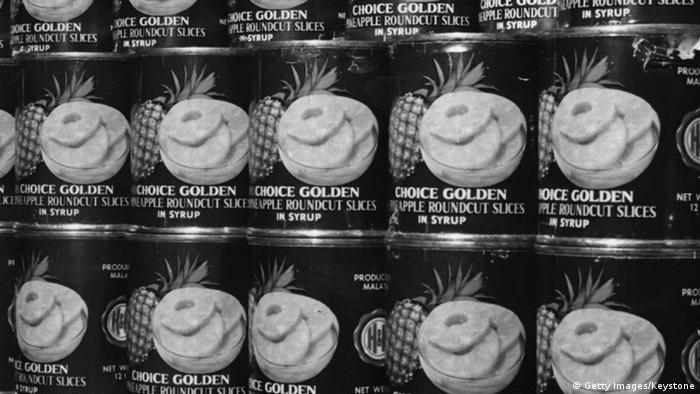 Pineapple cans, Copyright: Getty Images / Keystone