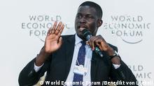 Victor Ochen, Executive Director, African Youth Initiative Network-Uganda, Uganda at the World Economic Forum on Africa 2016 in Kigali, Rwanda. Aufnahme: 11.5.16 Copyright. World Economic Forum /Benedikt von Loebell