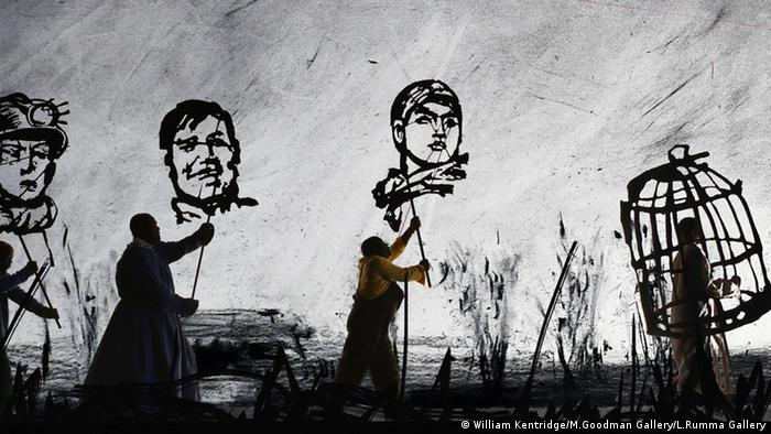 Videoinstallation von William Kentridge, © William Kentridge/M.Goodman Gallery/L.Rumma Gallery