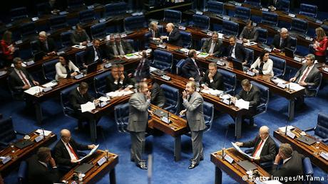 Sessão no Senado sobre afastamento de Dilma Rousseff