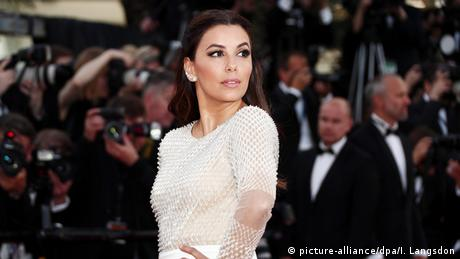 Longoria on the red carpet in a white dress at the opening of the Cannes Film Festival in 2016
