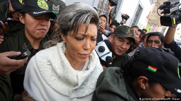Bolivien Gabriela Zapata, Ex-Partnerin von Präsident Evo Morales (picture-alliance/dpa/M. Alipaz)