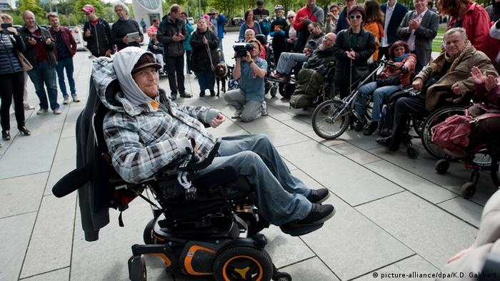 Deutschland Protest gegen Bundesteilhabegesetz in Berlin (Foto: dpa)