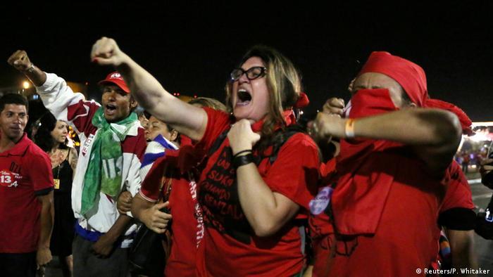 Brasilien Proteste gegen Amtsenthebungsverfahren Dilma Rousseff in Brasilia (Foto: REUTERS/Paulo Whitaker)