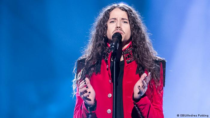 Schweden Stockholm ESC Poland : Michał Szpak on stage for second rehearsal