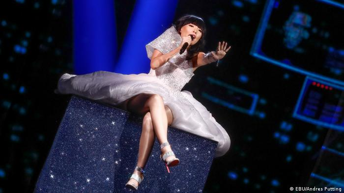 Schweden Stockholm ESC Australia : Dami Im on stage for second rehearsal