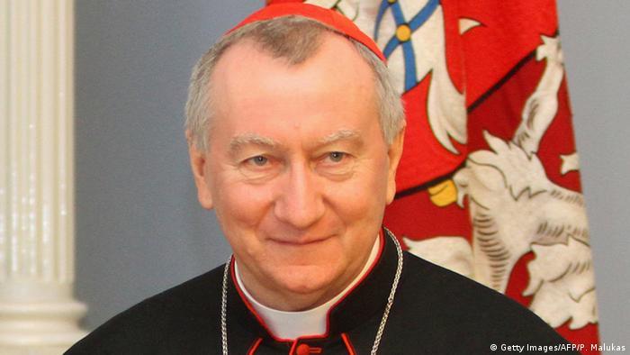 Litauen Kardinalstaatssekretär Pietro Parolin in Vilnius (Getty Images/AFP/P. Malukas)