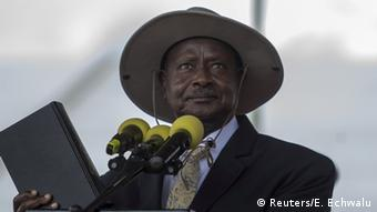 Uganda Präsident Yoweri Museveni in Kampala