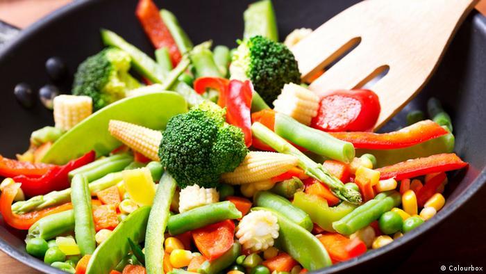Gemischtes Gemüse in einer Pfanne (Colourbox)