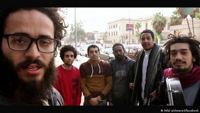 Ägyptische Rockband Straßenkinder