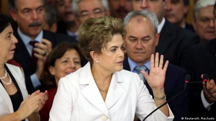 Brasilien Präsidentin Dilma Rousseff Rede (Foto: Reuters/A. Machado)