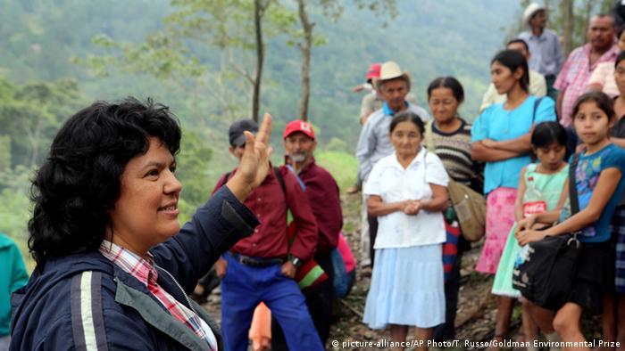 Honduras Fluss Gualcarque Agua Zarca Wasserkraftwerk Projekt Berta Caceres (picture-alliance/AP Photo/T. Russo/Goldman Environmental Prize)