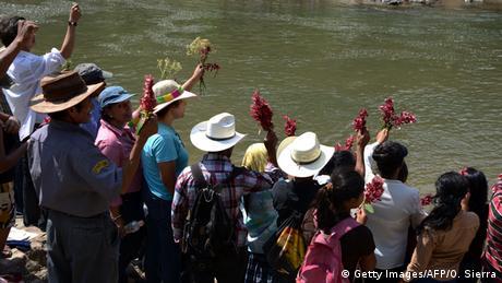 Honduras Fluss Gualcarque Agua Zarca Wasserkraftwerk Projekt Berta Caceres (Getty Images/AFP/O. Sierra)