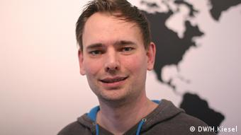 Jürgen Kaiser, fan filmmaker from Schweinfurt, Copyright: DW/H.Kiesel