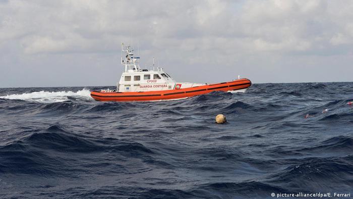 Italian coastguard vessel