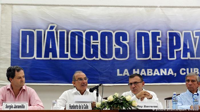 Aspecto de las negociaciones en La Habana