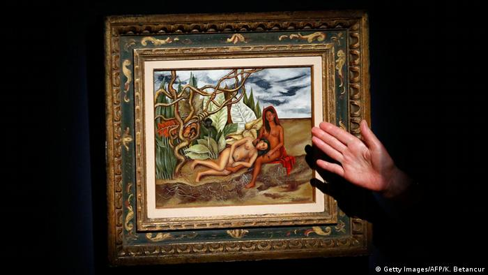 Kahlo's 'Two Nudes in the Forest (The Land Itself)' - Copyright: Getty Images/AFP/K. Betancur
