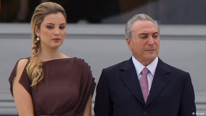 Michel Temer und Marcela Temer (Imago)