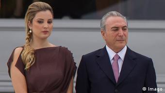 Michel Temer mit seiner Ehefrau Marcela (Foto: Imago)