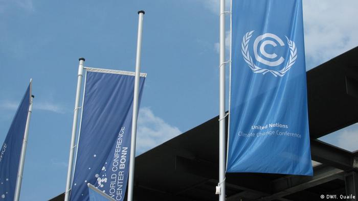 UN climate conference flag is hissed in Bonn