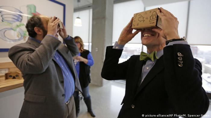 People testing Google's Cardboard