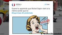 Screenshot Twitter Replique #SapinGate #CulotteGate