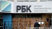 Russland RBC Mediengruppe Gebäude Logo Moskau