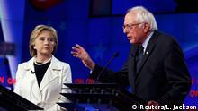 USA Präsidentschaftskandidaten Clinton und Sanders