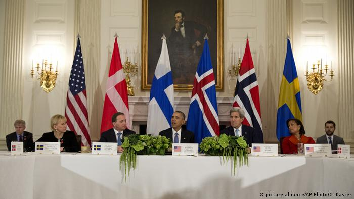 President Barack Obama joined by the leaders of five Nordic countries
