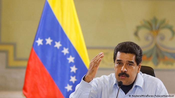 Venezuela's President Nicolas Maduro speaks during a meeting with ministers at the Miraflores Palace in Caracas, Venezuela May 12, 2016. Miraflores Palace/Handout via REUTERS