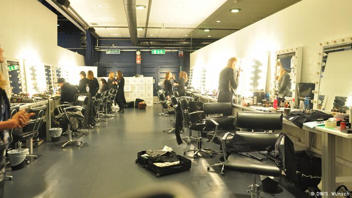 The makeup space in the backstage area. Photo: DW/S. Wünsch