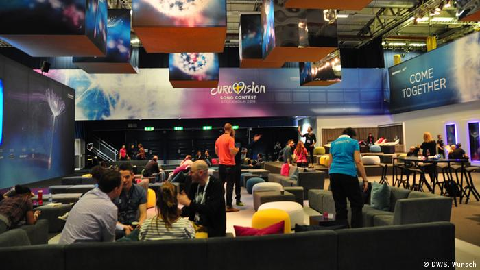 Eurovision Song Contest in Stockholm Backstage-Lounge
