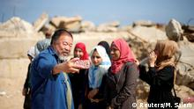 Chinese artist Ai Weiwei in Gaza (Reuters/M. Salem)