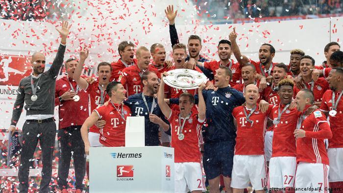 Бавария (Мюнхен) отмечает чемпионство