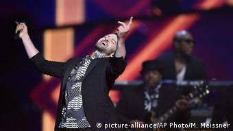 Justin Timberlake auf der Bühne in Stockholm