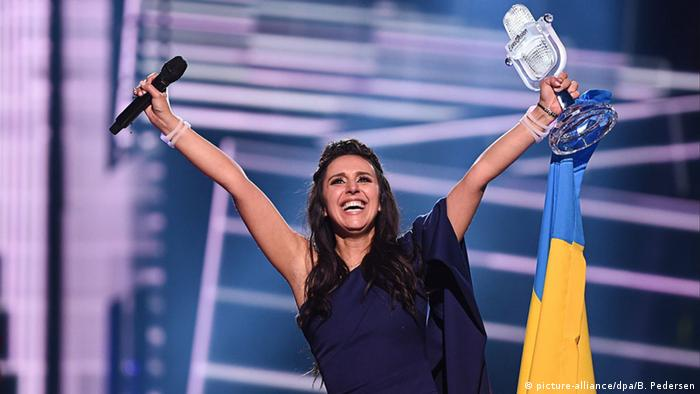 Eurovision Song Contest in Stockholm Jamala Ukraine Finale Gewinnerin (picture-alliance/dpa/B. Pedersen)