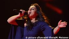 14.05.2016 +++ Ukraine's Jamala performs the song '1944' as the wins the first place during the Eurovision Song Contest final in Stockholm, Sweden, Saturday, May 14, 2016. (AP Photo/Martin Meissner)   Copyright: picture-alliance/AP Photo/M. Meissner