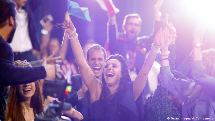 Eurovision Song Contest in Stockholm, winner Jamala from Ukraine, Copyright: Getty Images/M. Campanella